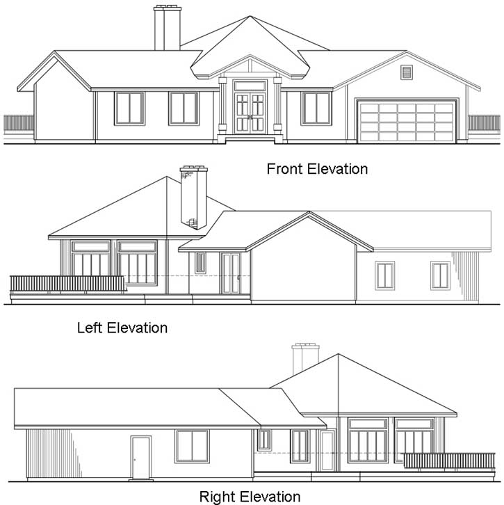 Rear Elevation Plan: 17-171