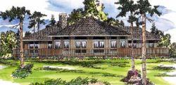 Contemporary Style Home Design Plan: 17-171