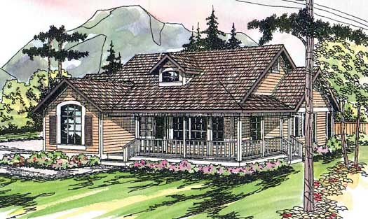 Country Style Floor Plans Plan: 17-173