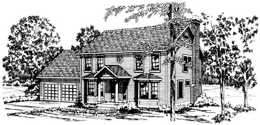 Early-american Style Floor Plans Plan: 17-175