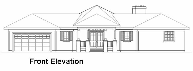 Rear Elevation Plan: 17-182