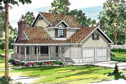 Country Style House Plans Plan: 17-184
