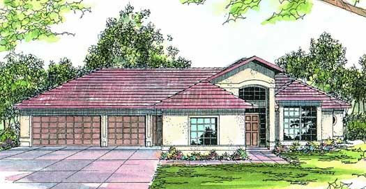 Southwest Style Floor Plans Plan: 17-185