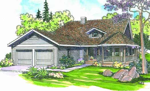 Country Style Floor Plans Plan: 17-186
