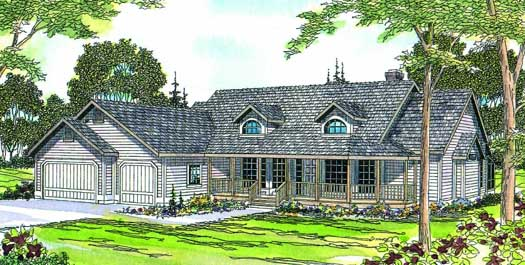 Country Style Home Design Plan: 17-189
