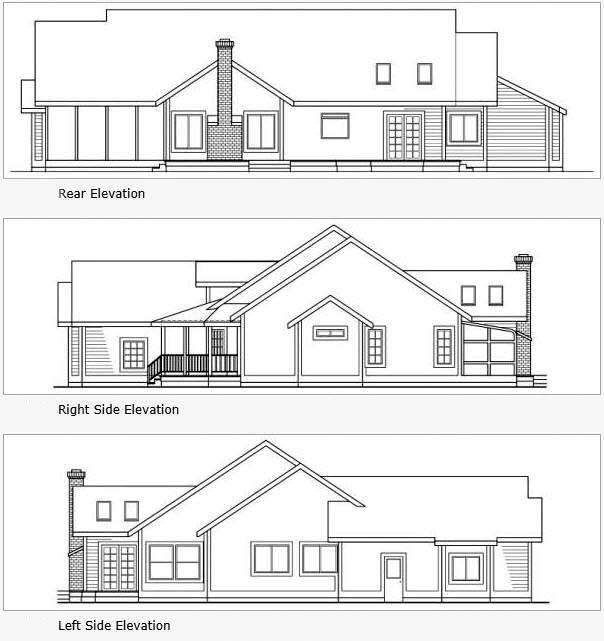 Rear Elevation Plan: 17-189