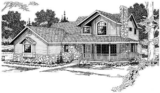 Country Style Home Design Plan: 17-190