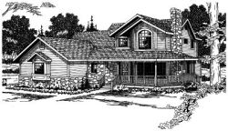 Country Style House Plans Plan: 17-190