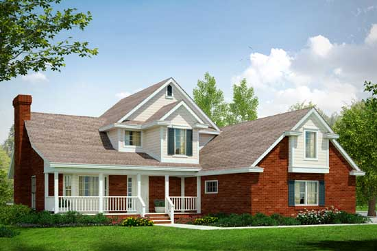 Country Style Floor Plans Plan: 17-192