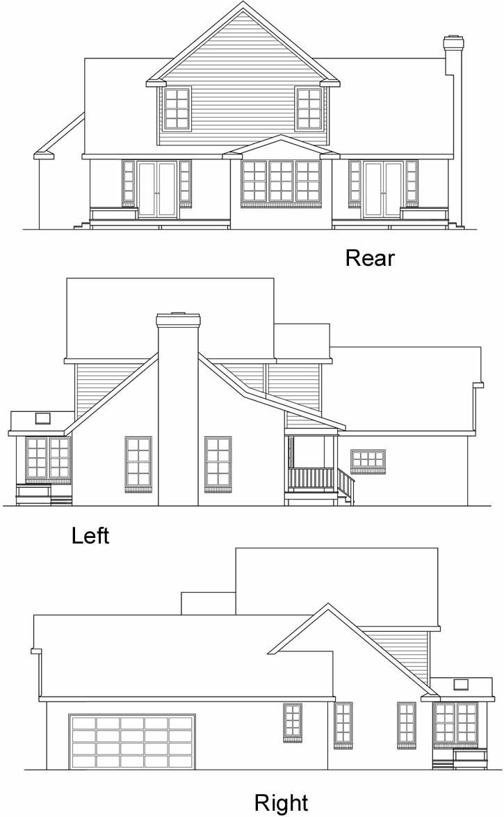 Rear Elevation Plan: 17-192