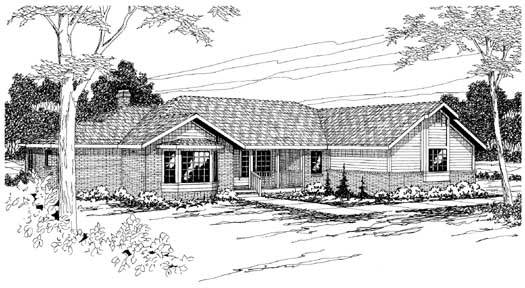 Ranch Style Floor Plans Plan: 17-193