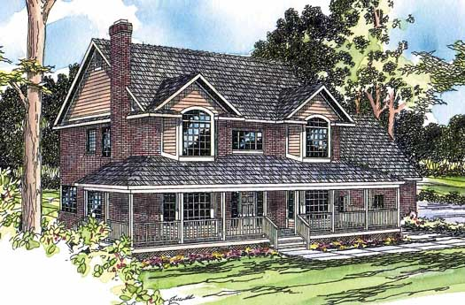 Country Style House Plans Plan: 17-194