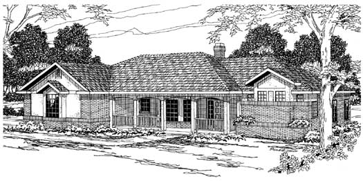 Ranch Style House Plans Plan: 17-195