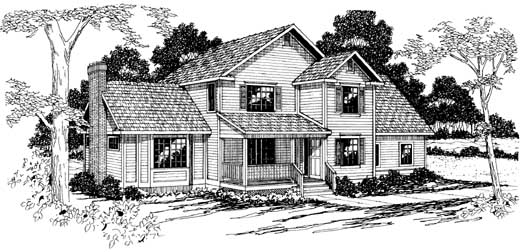 Country Style Floor Plans Plan: 17-196
