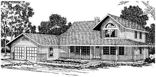 Farm Style Floor Plans Plan: 17-197