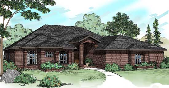 Traditional Style Home Design Plan: 17-201