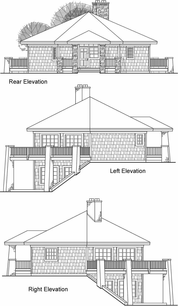 Rear Elevation Plan: 17-203
