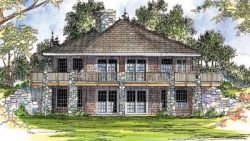 Contemporary Style Home Design Plan: 17-203