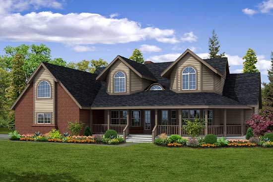 Traditional Style Home Design Plan: 17-204