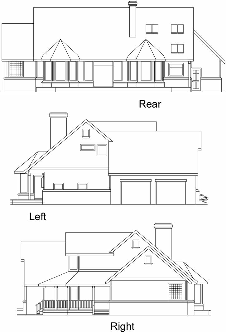 Rear Elevation Plan: 17-204