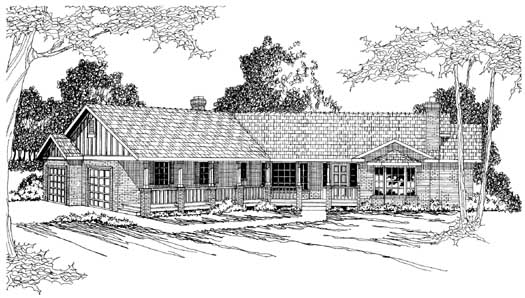 Ranch Style Home Design Plan: 17-205