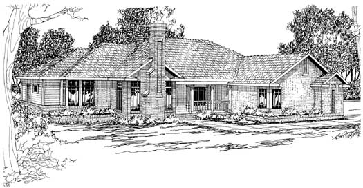 Traditional Style Home Design Plan: 17-207