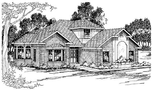 Traditional Style Home Design Plan: 17-208