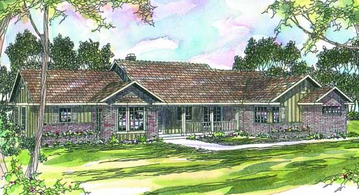 Ranch Style Home Design Plan: 17-209