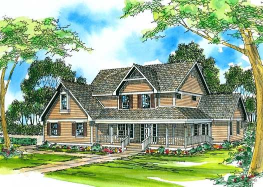 Farm Style Home Design Plan: 17-210
