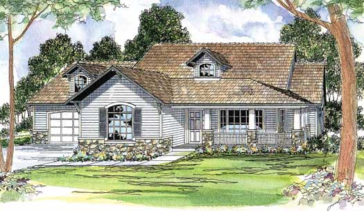 Country Style Floor Plans Plan: 17-213
