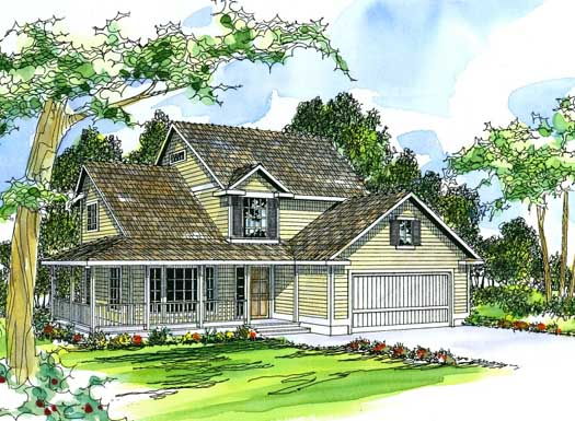 Country Style Floor Plans Plan: 17-214