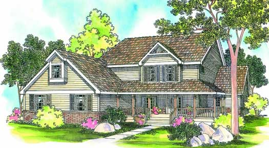 Country Style House Plans Plan: 17-216