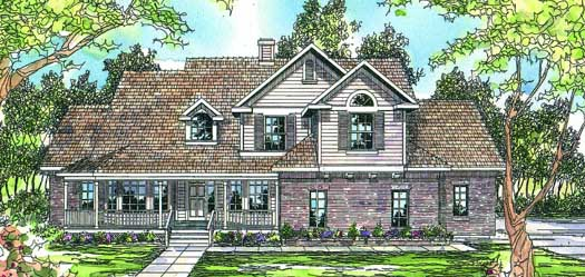 Country Style Home Design Plan: 17-217
