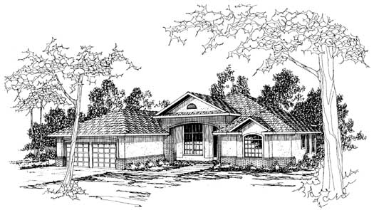 Southwest Style House Plans Plan: 17-219