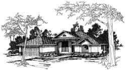Southwest Style House Plans Plan: 17-219