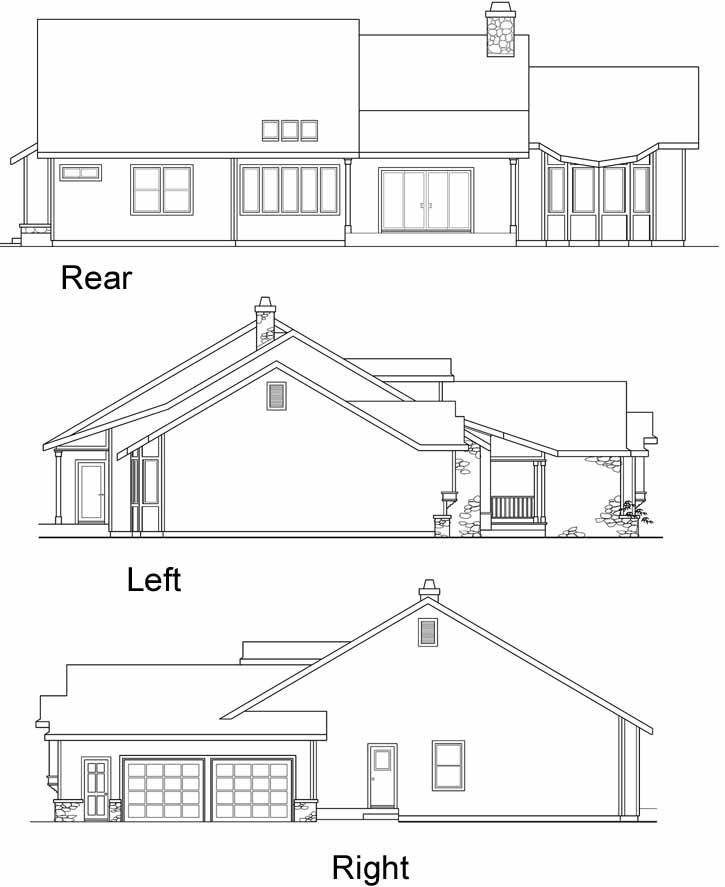 Rear Elevation Plan: 17-220