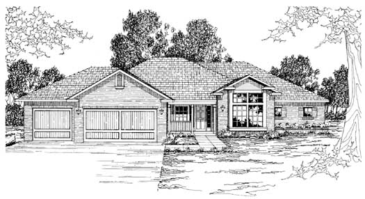 Traditional Style House Plans Plan: 17-221