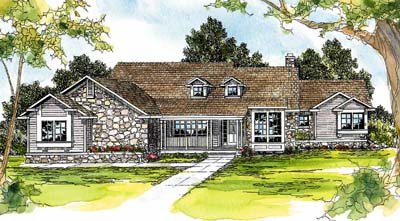Country Style Home Design Plan: 17-226