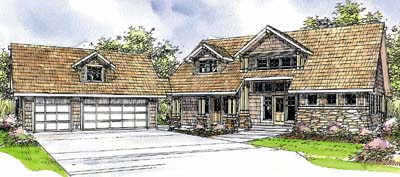 Traditional Style Home Design Plan: 17-229
