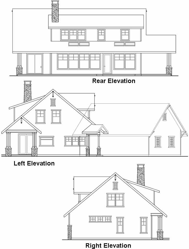 Rear Elevation Plan: 17-229