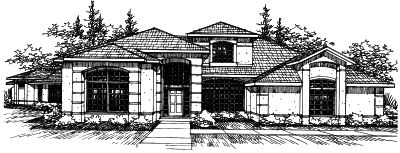Mediterranean Style House Plans Plan: 17-231
