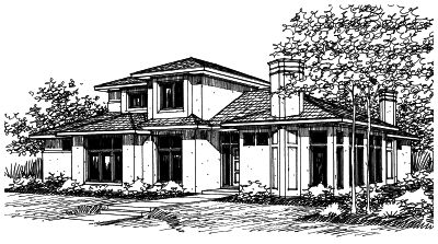 Contemporary Style House Plans Plan: 17-232