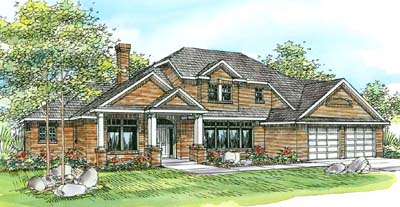 Traditional Style Floor Plans Plan: 17-233