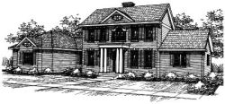 Early-American Style Floor Plans Plan: 17-234