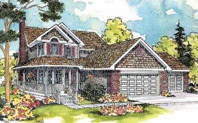 Country Style House Plans Plan: 17-235