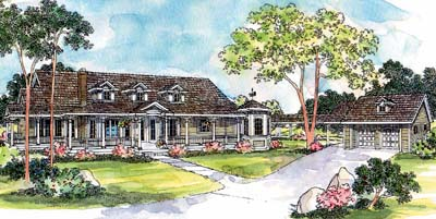 Country Style House Plans Plan: 17-236