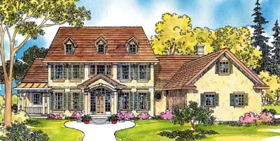 Southern-colonial Style Floor Plans Plan: 17-239