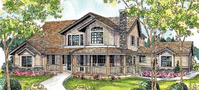 Country Style Floor Plans Plan: 17-240