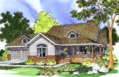 Country Style House Plans Plan: 17-241