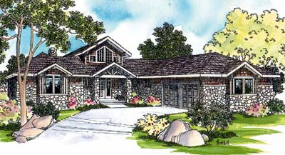 Contemporary Style Home Design Plan: 17-242